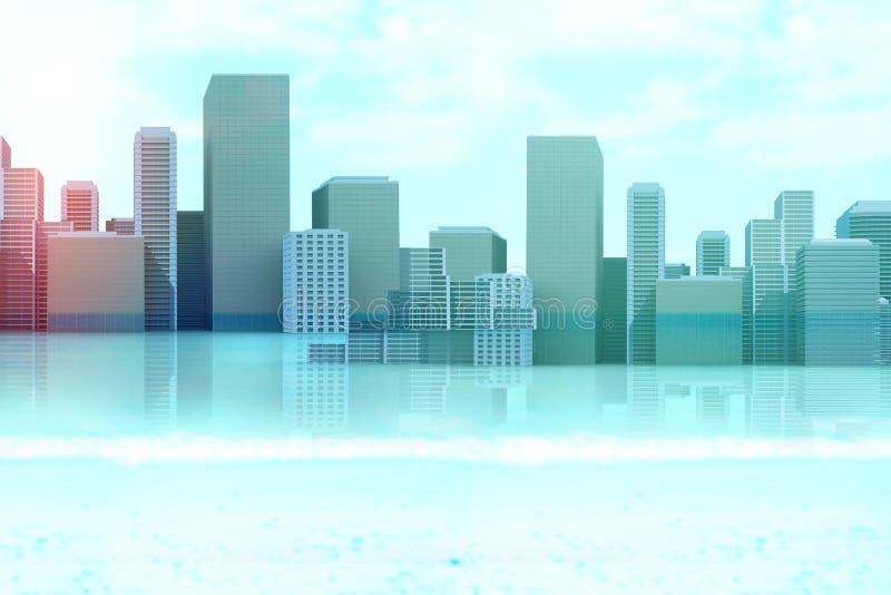 Zusammengesetztes Bild von Stadtbild 3d lizenzfreie abbildung
