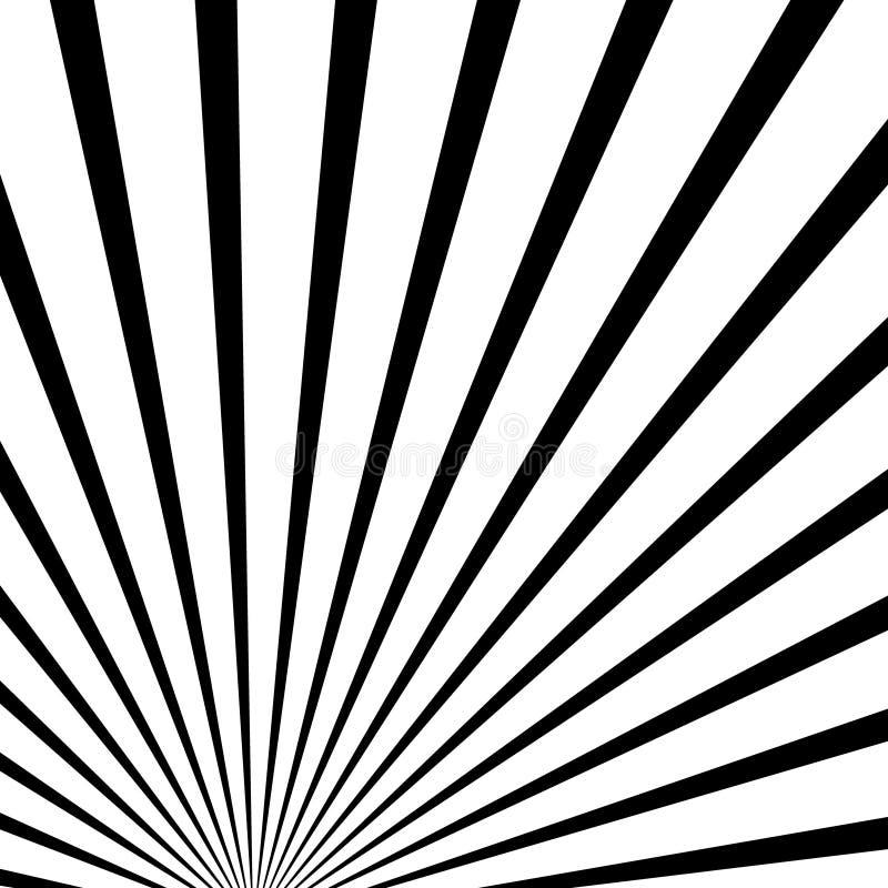 Zusammenlaufen, Linien Zusammenfassungshintergrund ausstrahlend Zentral, bursti lizenzfreie abbildung