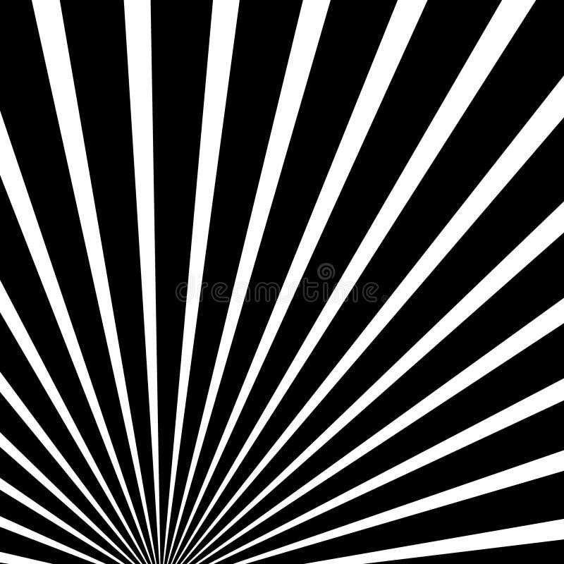 Zusammenlaufen, Linien Zusammenfassungshintergrund ausstrahlend Zentral, bursti stock abbildung