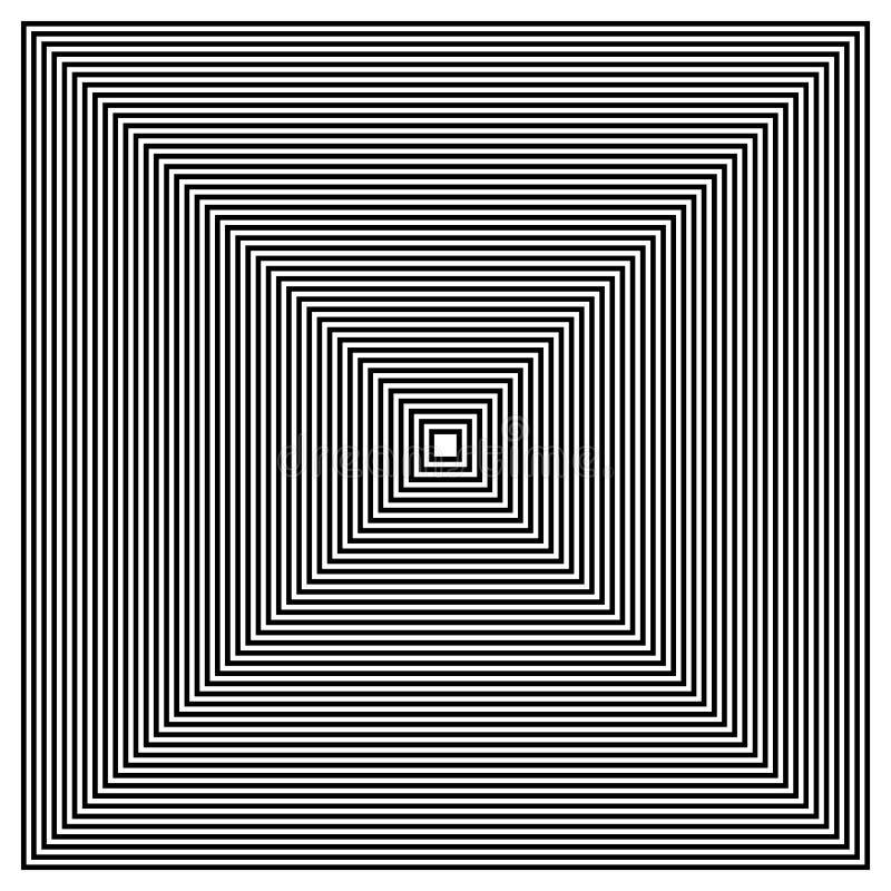 Zusammenlaufen, Quadrate ausstrahlend stock abbildung