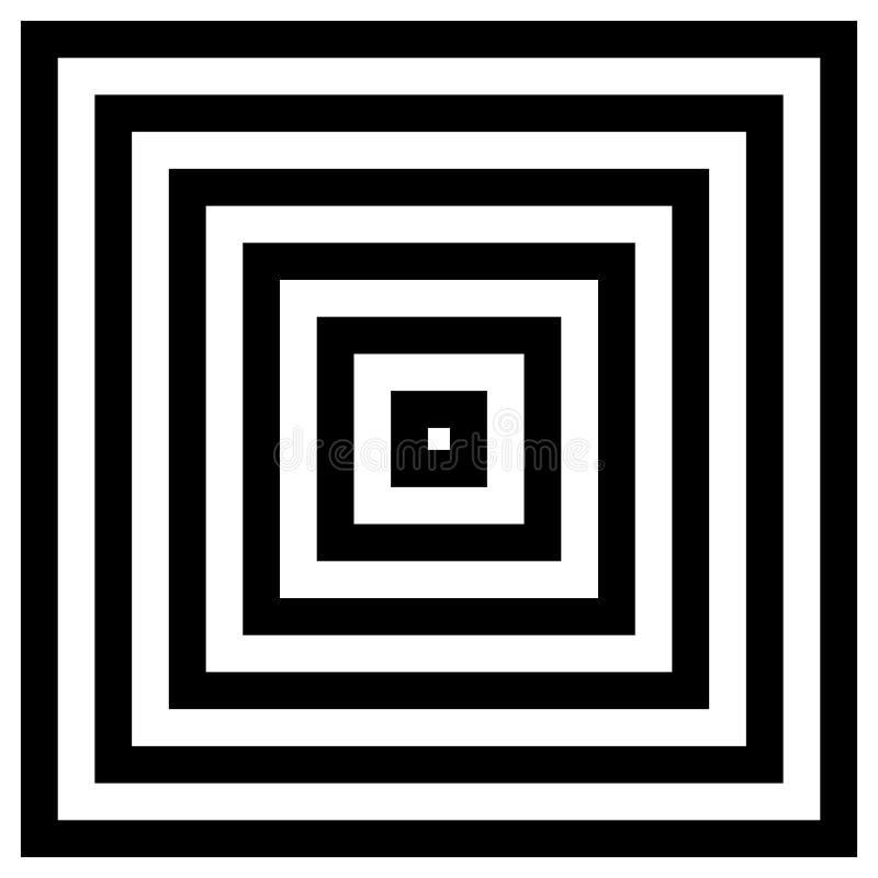 Zusammenlaufen, Quadrate ausstrahlend vektor abbildung