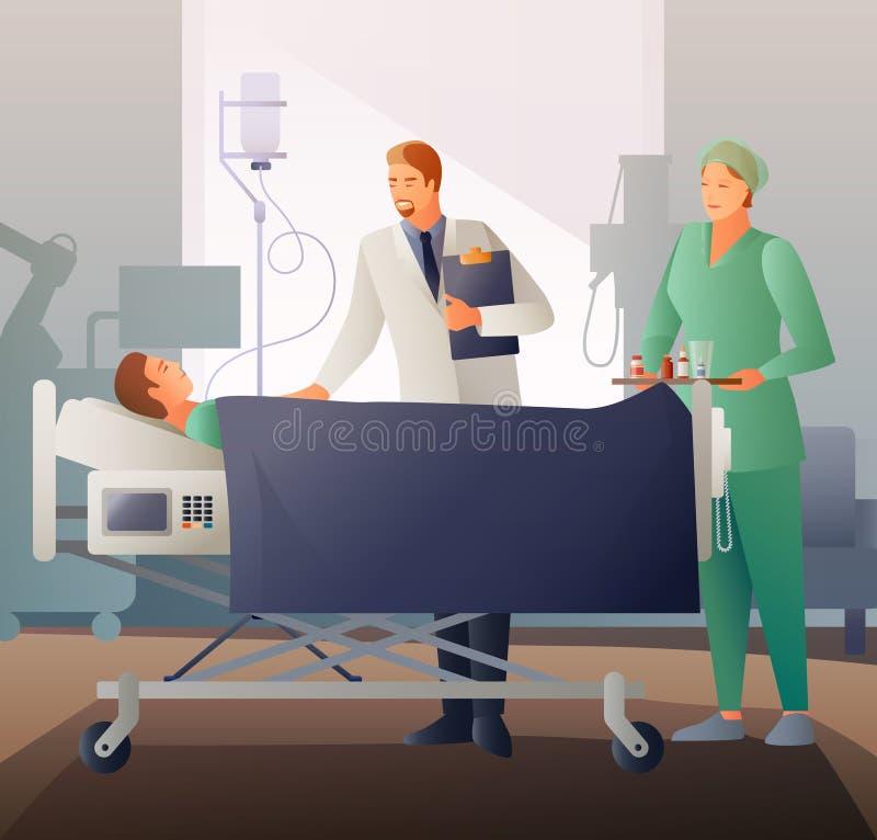 Zusammensetzung Doktor-And Sick Flat stock abbildung