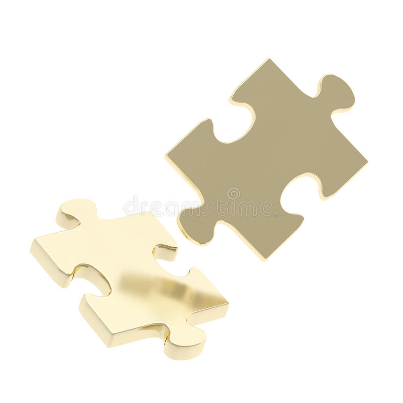 Zusammensetzung mit zwei Puzzlespielstücken lizenzfreie abbildung