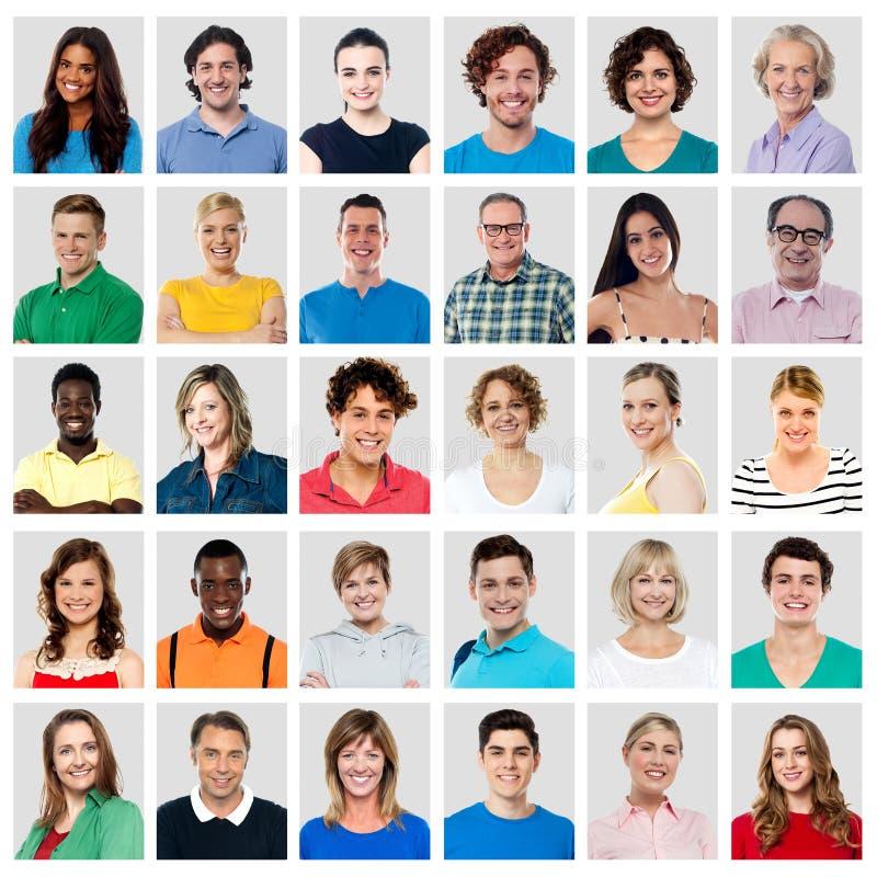 Zusammensetzung von lächelnden Leuten lizenzfreie stockfotos