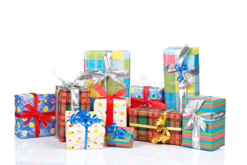 Zusammenstellung der Geschenkkästen stockfotografie