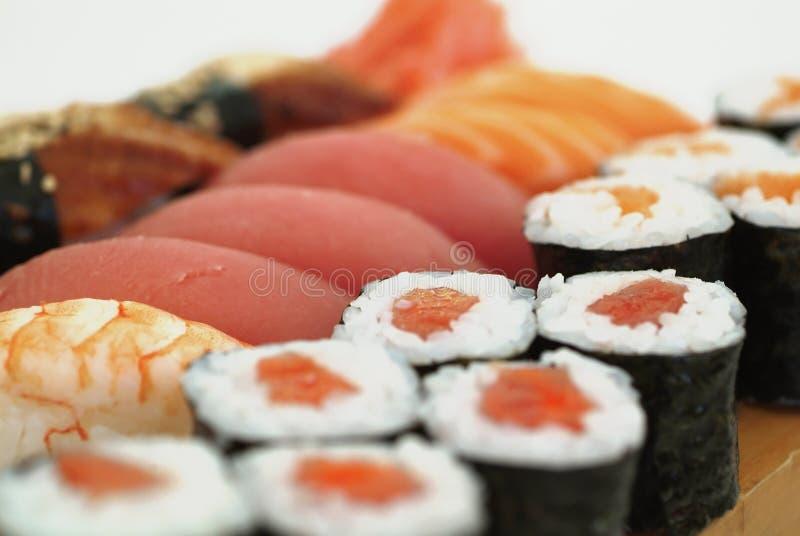 Zusammenstellung der japanischen Sushi lizenzfreie stockfotografie