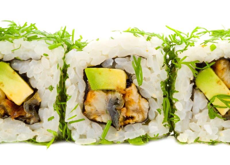 Zusammenstellung der japanischen Sushi. stockfotos
