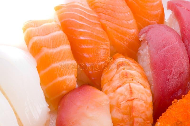 Zusammenstellung der japanischen Sushi stockfoto