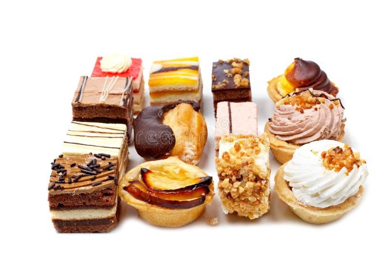 Zusammenstellung der köstlichen Kuchen lizenzfreies stockfoto