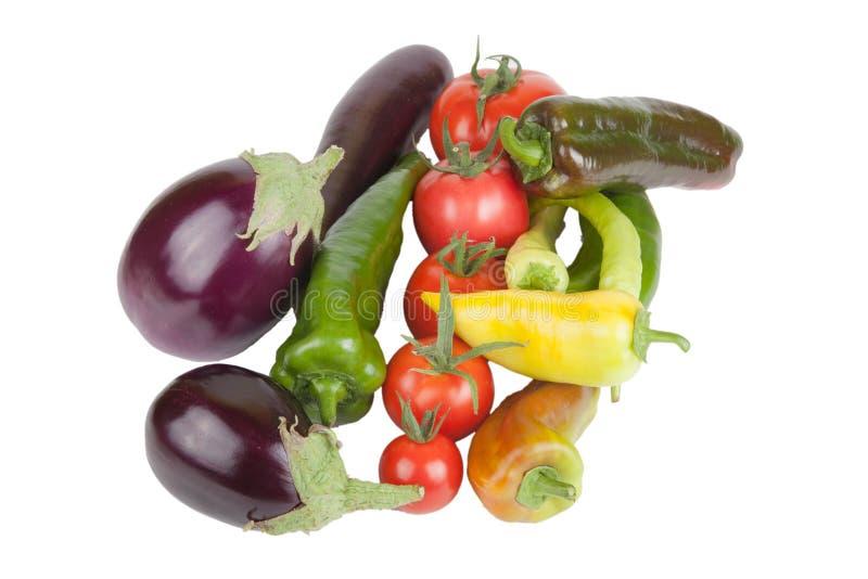 Zusammenstellung des Gemüses lokalisiert auf weißem Hintergrund lizenzfreie stockfotos