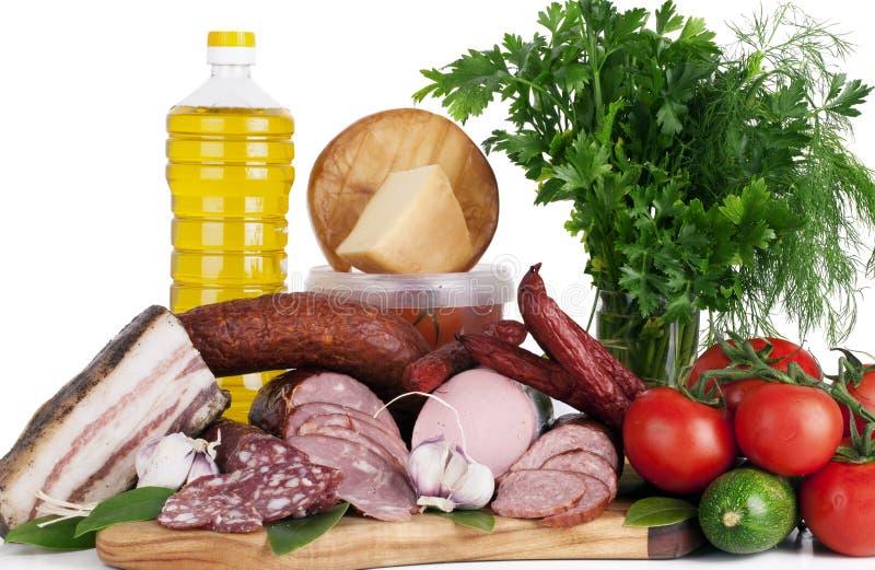 Zusammenstellung des kalten Fleisches lizenzfreies stockfoto