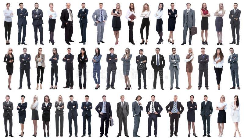 Zusammenstellung einer Vielzahl von Geschäftsleuten in Folge stockfotos