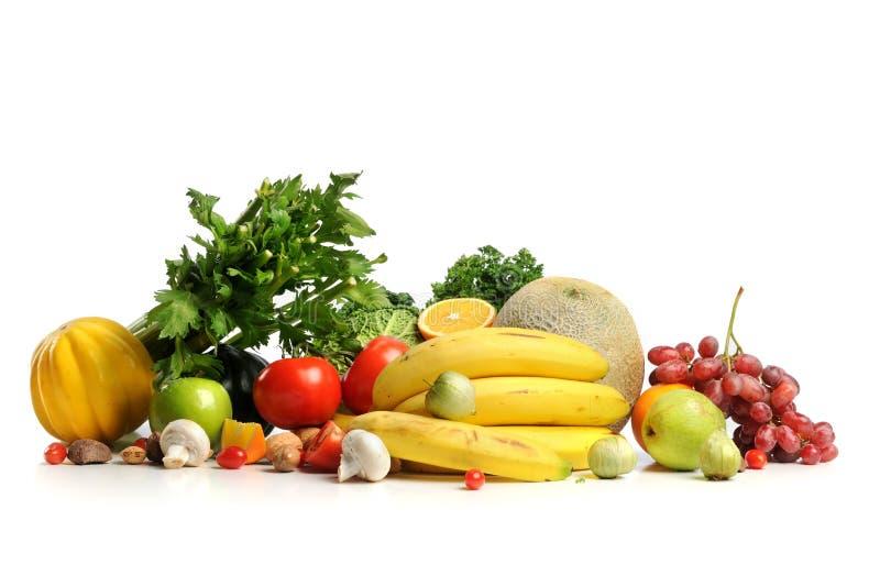 Zusammenstellung von Obst und Gemüse von lizenzfreie stockfotos