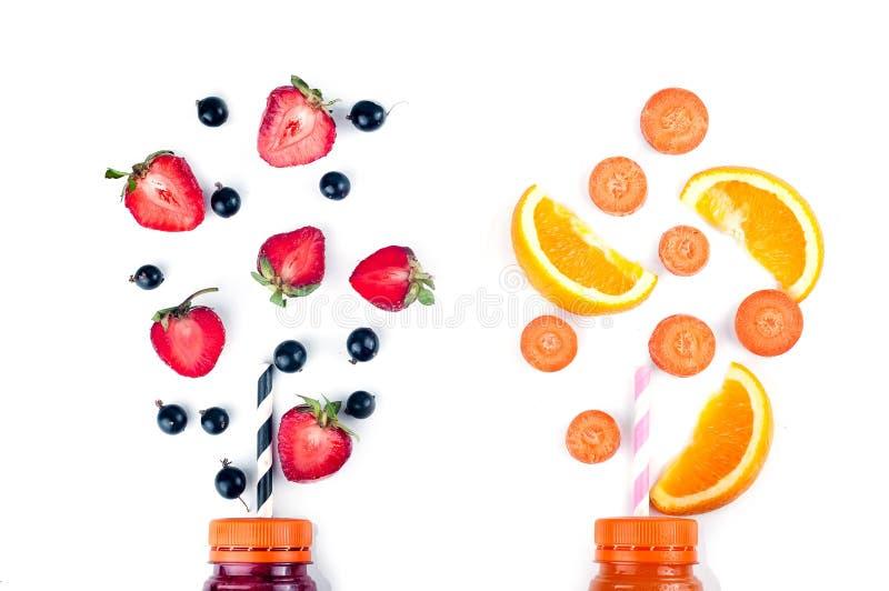 Zusammenstellung von Obst und Gemüse von Smoothies lizenzfreie stockfotos