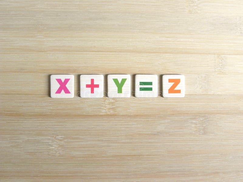 Zusatz in der Algebra lizenzfreie stockbilder