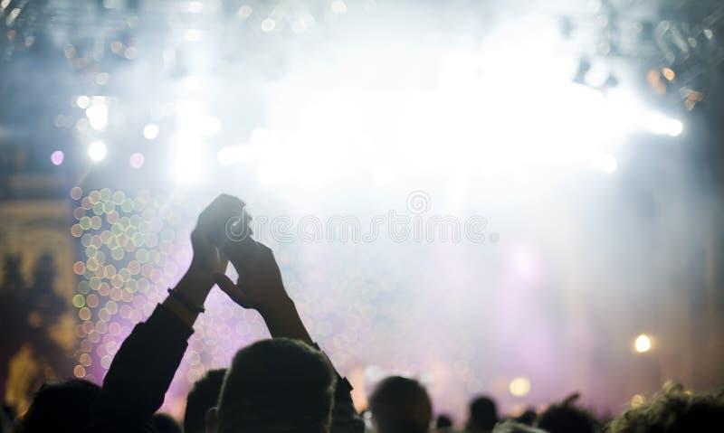 Zuschauer- und Stufeleuchten stockfotos