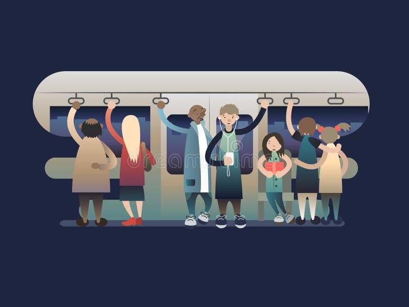 Zuschauerpassagiere im trasport vektor abbildung