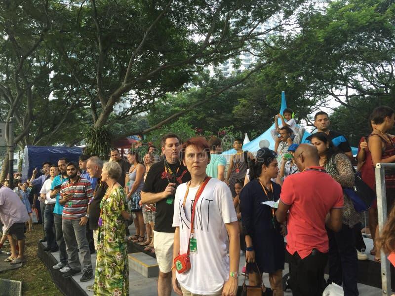 Zuschauersendegebiet Sept. 18 Singapur-Grandprix 2015 2015 lizenzfreie stockfotos