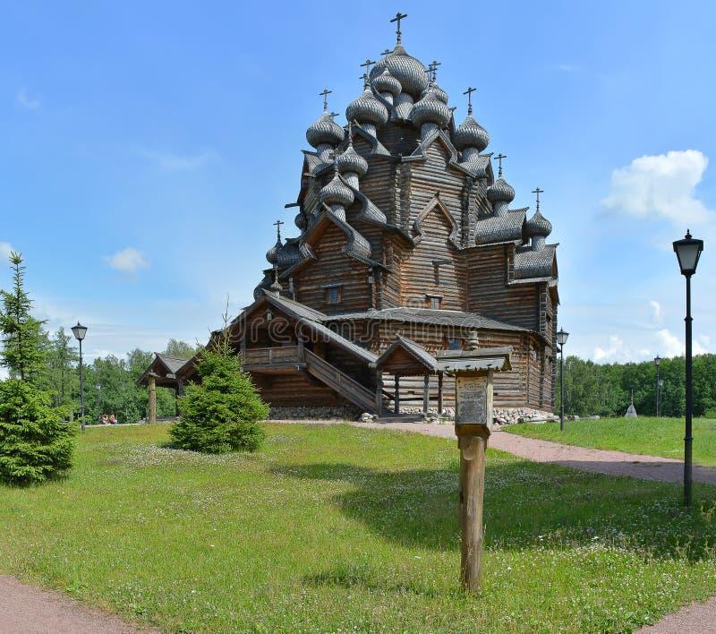 Zustand des Theologe ?- ethnopark in Vsevolozhsk-Bezirk von Leningrad-Region, lizenzfreies stockfoto
