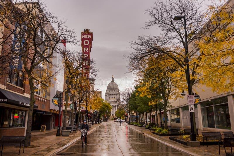 Zustand-Kapitol in Madison, Wisconsin lizenzfreie stockbilder