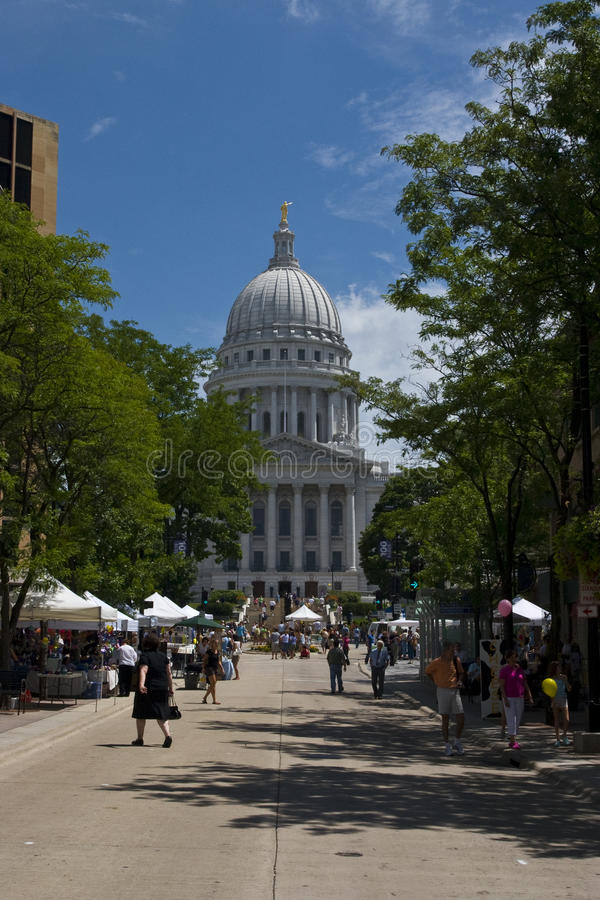 Zustand-Kapitol in Madison, Wisconsin stockbilder