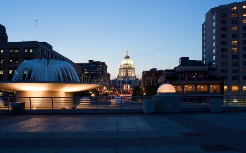 Zustand-Kapitol Madison Wisconsin lizenzfreie stockbilder