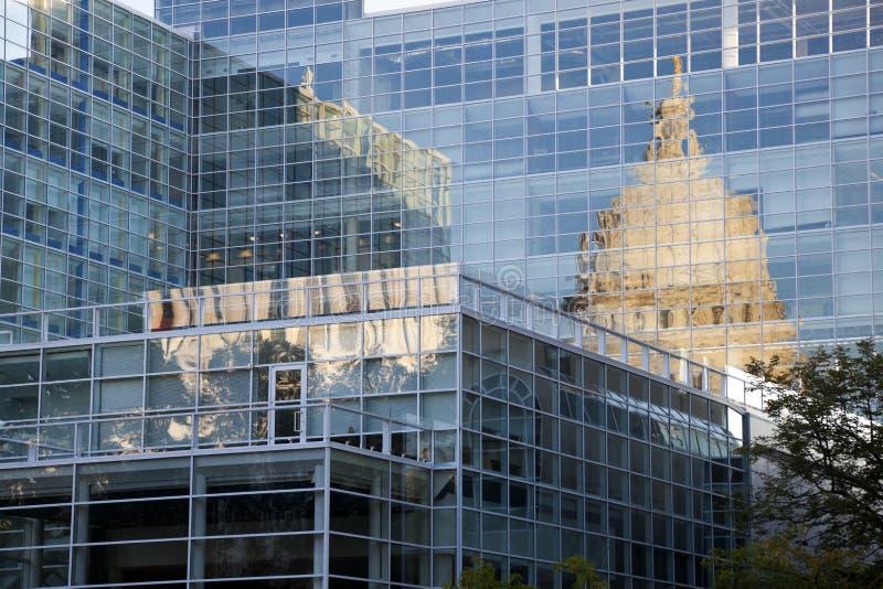 Zustand-Kapitol von Wisconsin reflektierte sich lizenzfreies stockfoto