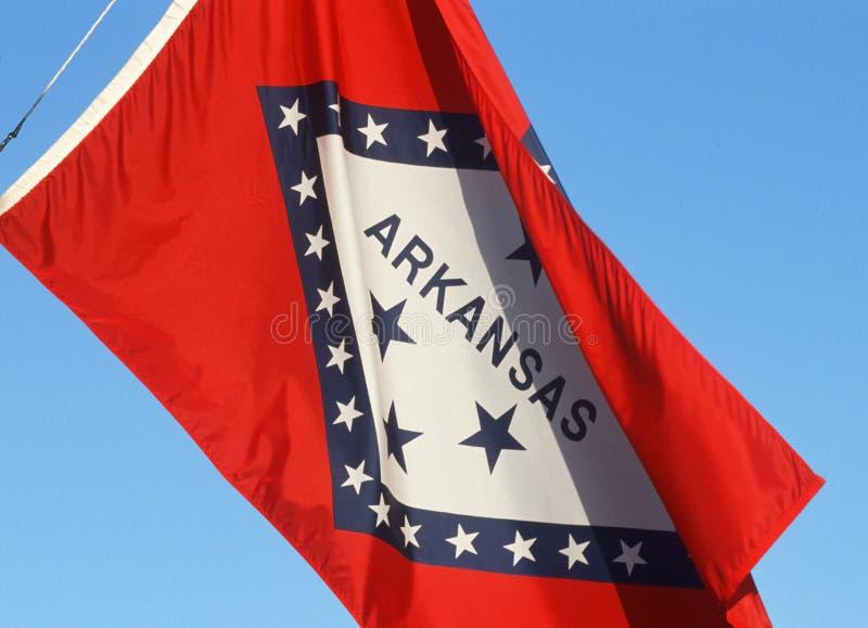 Zustand-Markierungsfahne von Arkansas stockfotos