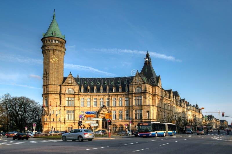 Zustand-Sparkassegebäude in der Luxemburg-Stadt lizenzfreies stockfoto