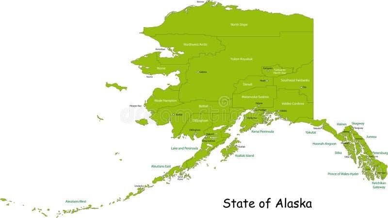Zustand von Alaska stock abbildung