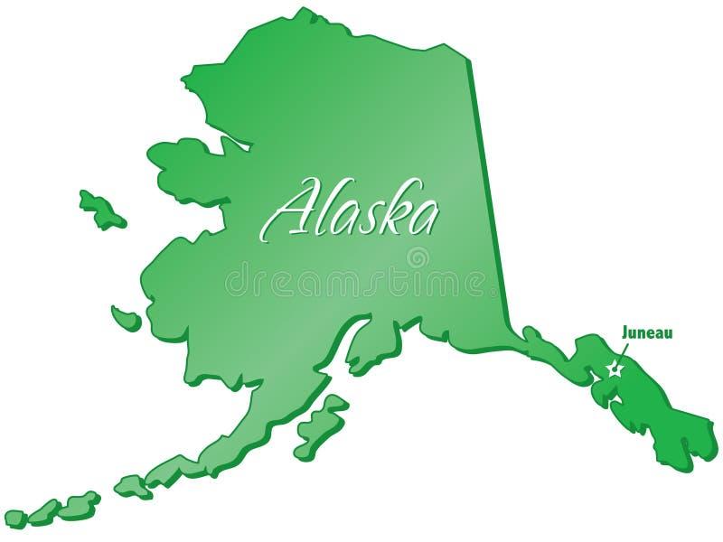 Zustand von Alaska lizenzfreie abbildung