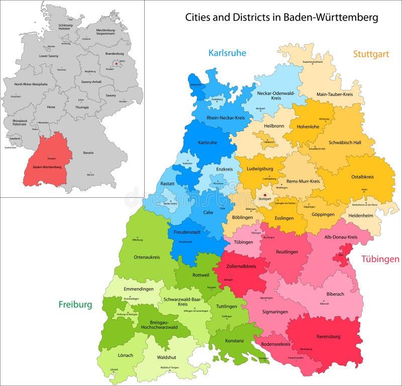 Zustand von Deutschland - Baden-Wurttemberg stock abbildung