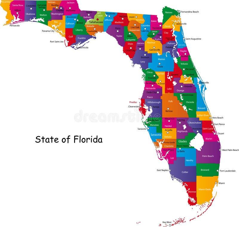 Zustand von Florida lizenzfreie abbildung