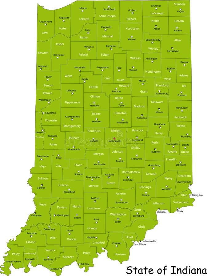 Zustand von Indiana stock abbildung