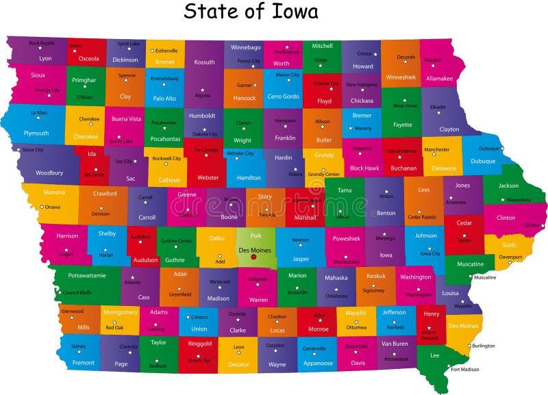 Zustand von Iowa vektor abbildung