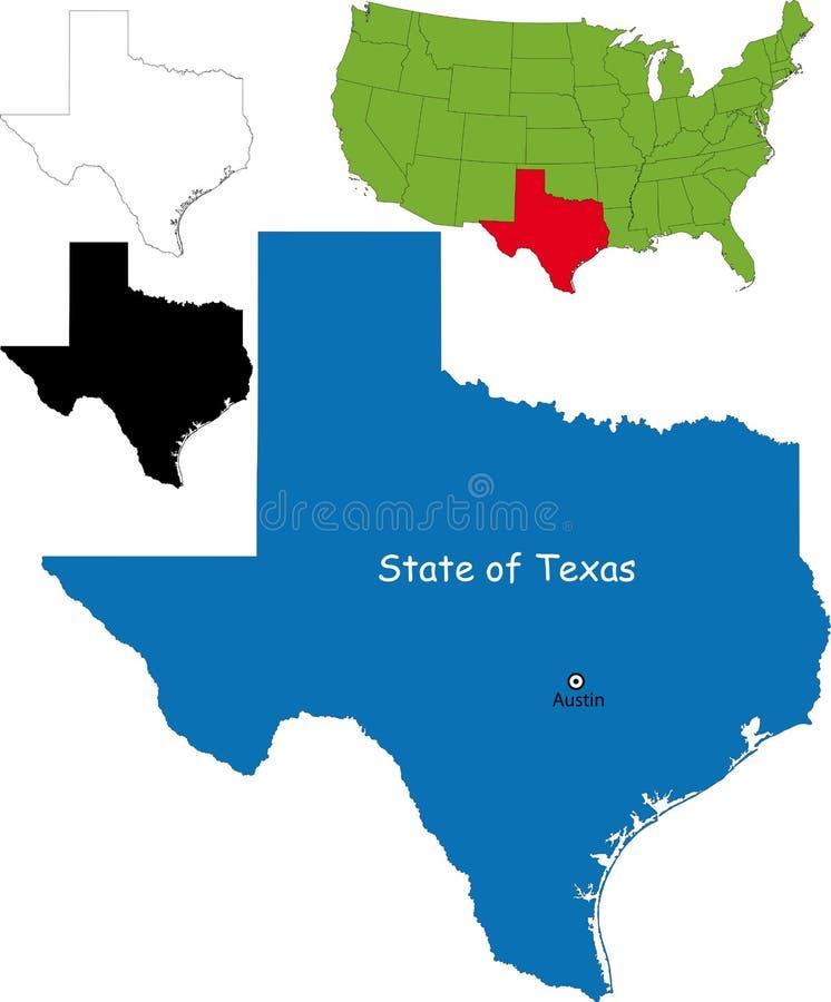 Zustand von Texas, USA lizenzfreie abbildung