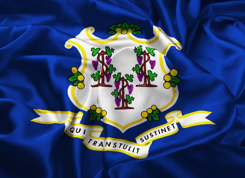 Zustandmarkierungsfahne von Connecticut lizenzfreie abbildung
