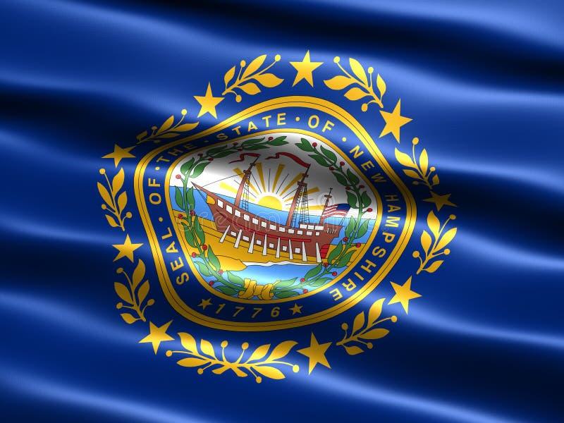Zustandmarkierungsfahne von New-Hampshire stock abbildung