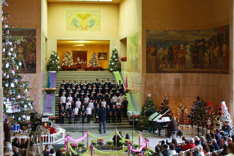 Zustands-Kapitol-Weihnachtskonzert, 2012 lizenzfreies stockfoto