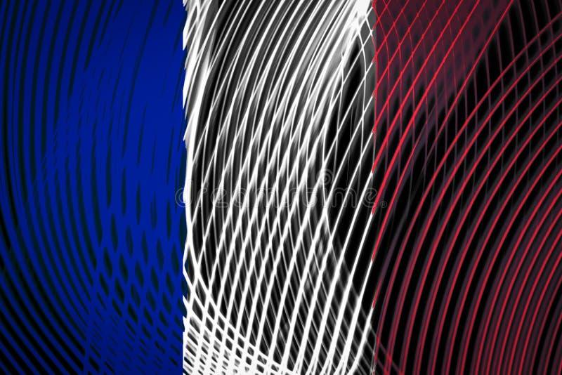Zustandsflagge von Frankreich auf dem Hintergrund stock abbildung