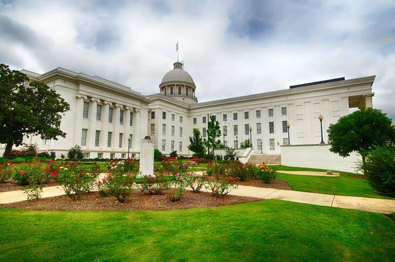 Zustandskapitol in Montgomery, Alabama stockbilder