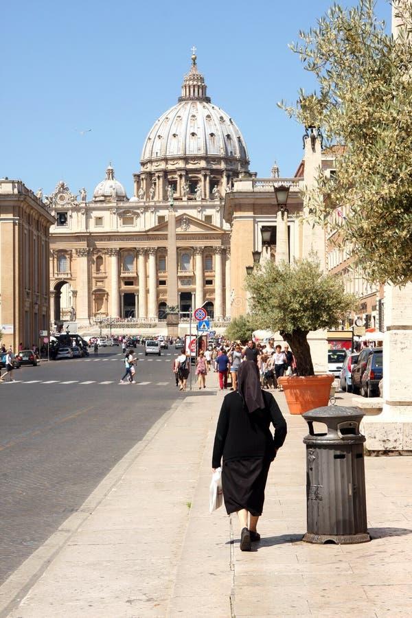 Zuster Vatican Rome Italy royalty-vrije stock foto