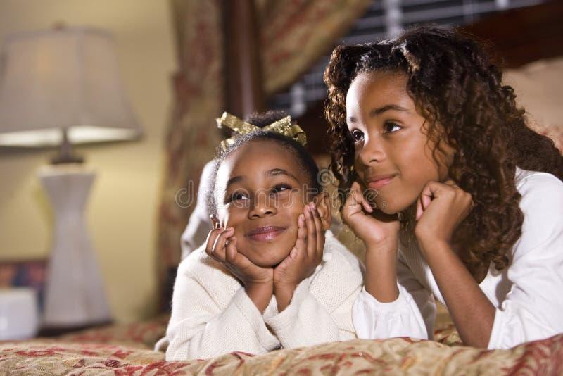 Zusters en beste vrienden stock afbeelding