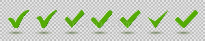 Zustimmungskontrollikone lokalisiert, gesetztes Qualitätszeichen, Zecke – Vektor stock abbildung