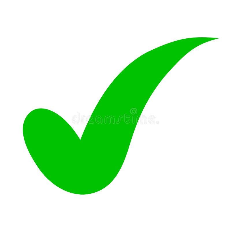 Zustimmungskontrollikone, Qualitätszeichen - Vektor lizenzfreie abbildung
