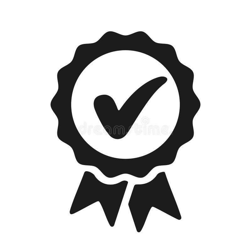 Zustimmungskontrollikone, Qualitätszeichen - Vektor stock abbildung