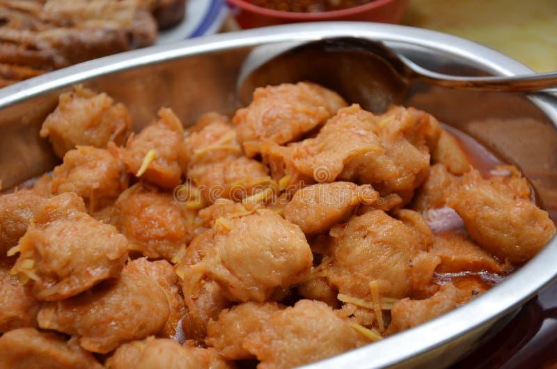 Zuur en zoet varkensvlees royalty-vrije stock afbeelding