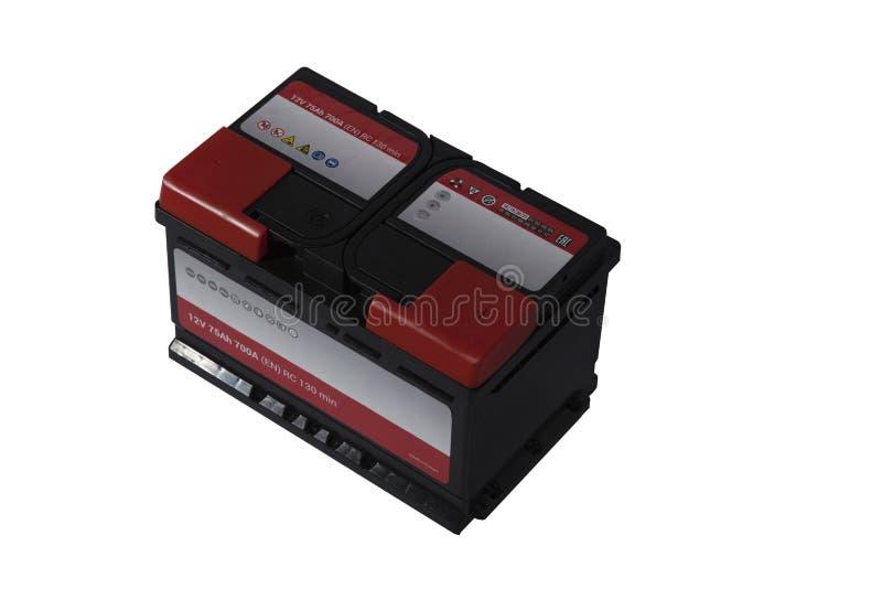 Zuur-loodbatterij voor auto's op een witte achtergrond royalty-vrije stock foto