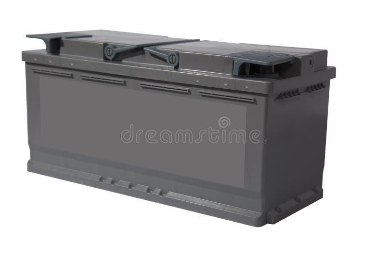 Zuur-loodbatterij voor auto's op een witte achtergrond stock foto
