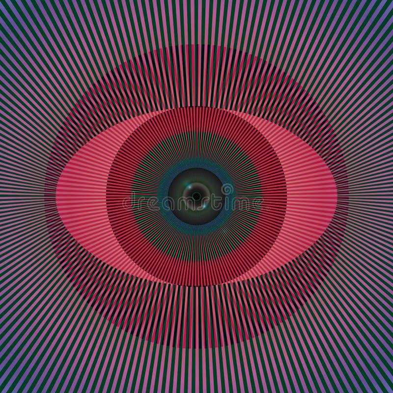 Zuur oog stock illustratie